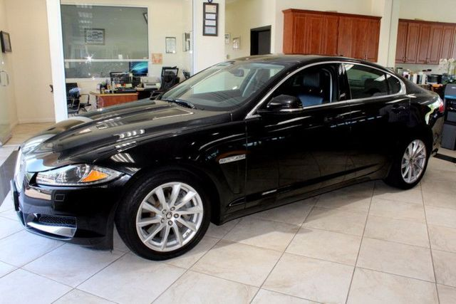 2013 Jaguar XF I4 RWD 1 OWNER CLEAN CARFAX LOW MILES MOON ROOF NAVIGATION AND WIRELESS BLU