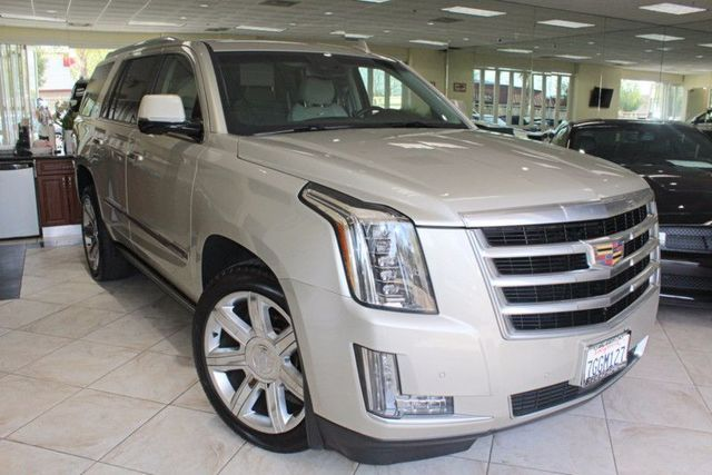 2015 Cadillac Escalade Premium CARFAX CERTIFIED ONE OWNER FACTORY WARRANTY NAVIGATION BLUE