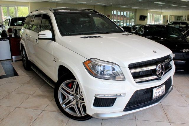 2014 Mercedes GL-Class GL 63 AMG CARFAX CERTIFIED ONE OWNER POWER THIRD ROW SEATING DVD SYST