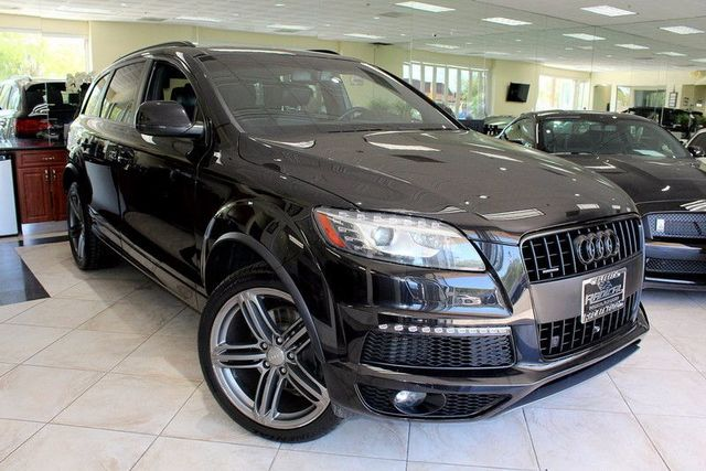 2013 Audi Q7 30T S line Prestige CARFAX CERTIFIED ONE OWNER S-LINE THIRD ROW SEATING FULL