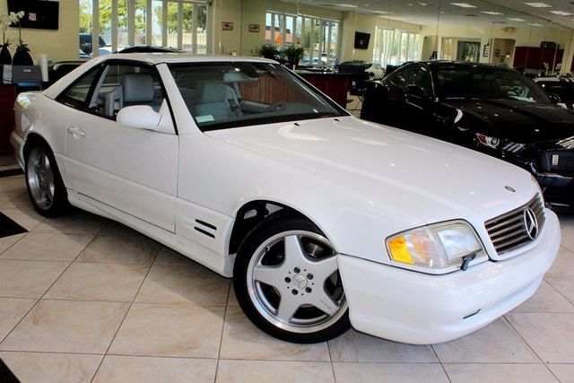 2002 Mercedes SL-Class 500 CARFAX CERTIFIED LOW MILES SUPER CLEAN COUPE CONVERTIBLE REMO