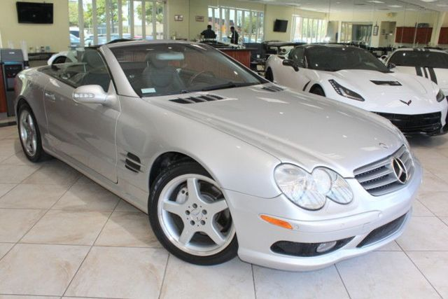 2003 Mercedes SL-Class SL500 CARFAX CERTIFIED AMG KEY LESS ENTRY CONVERTIBLE BOSE PREMIUM