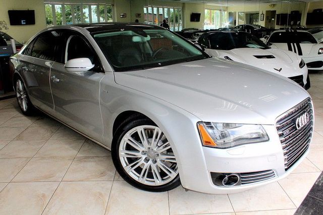 2012 Audi A8 L CARFAX CERTIFIED FULLY LOADED DRIVER ASSISTANCE PACKAGE EXECUTIVE SEATING F