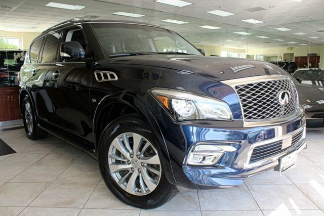 2015 Infiniti QX80 CARFAX CERTIFIED ONE OWNER FACTORY WARRANTY CALIFORNIA CAR THIRD ROW