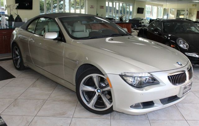 2008 BMW 650i CARFAX CERTIFIED CALIFORNIA CAR LOW MILES CONVERTIBLE MEMORY AND POWER SEATS
