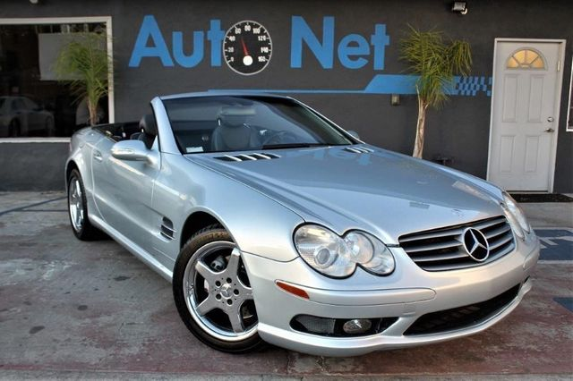 2003 Mercedes SL500 SL55 AMG Convertible This 2003 Mercedes-Benz SL Comes In a Silver Gray Color R