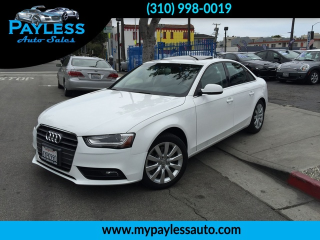 2013 Audi A4 Premium Our 2013 Audi A4 is a premium car under factory warranty It has white exteri