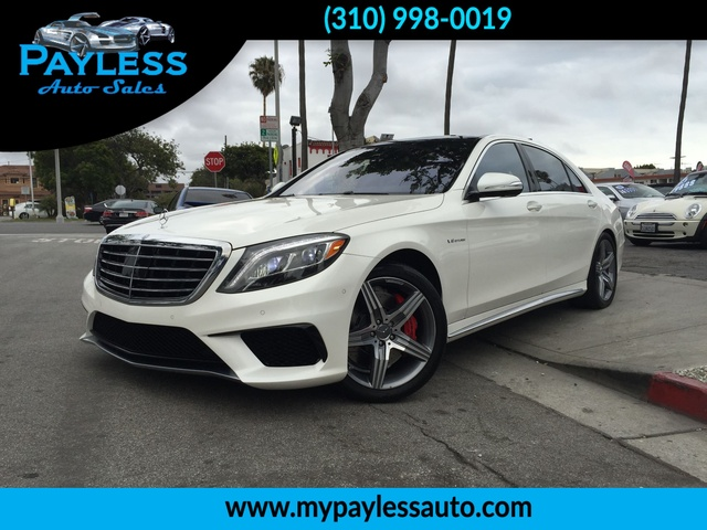 2014 Mercedes S63 S63 AMG FULLY LOADED ONE OF A KIND DIAMOND WHITE ON A BLACK FULL LEATHER WITH AM