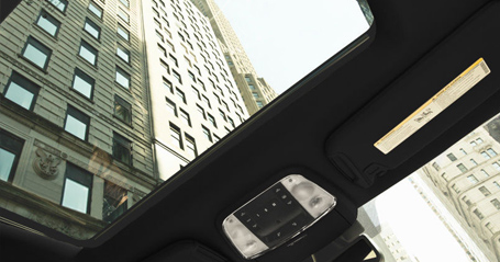 largest panoramic sunroof available in its class