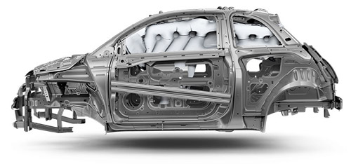 2015 FIAT 500 Airbags and Steel Cage Construction