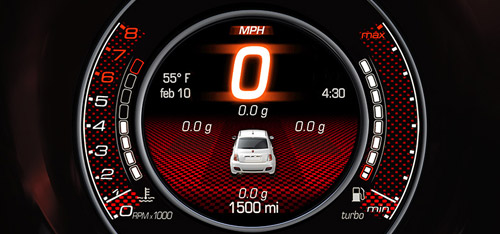 2015 FIAT 500 Abarth Electronic Vehicle Information Center