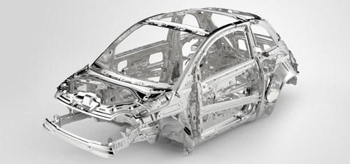 2015 FIAT 500 Abarth Steel Structure