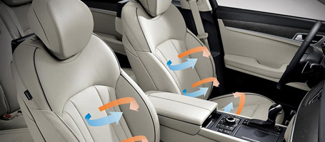 Heated And Ventilated Seats With Power Driver Bolster And Cushion Extender