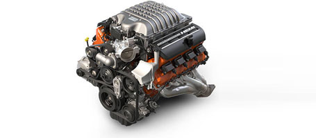 Supercharged 6.2L HEMI® SRT Hellcat V8 Engine
