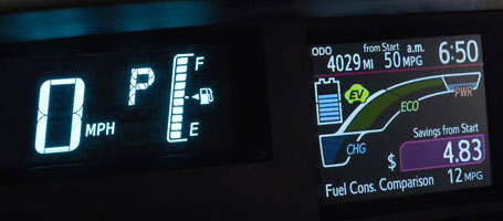 Fuel economy info