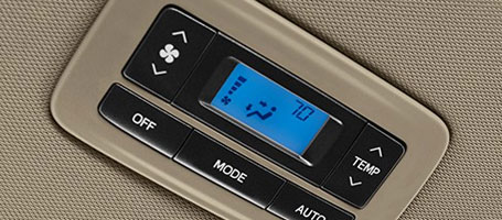 Second-row climate controls