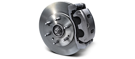 FOUR-WHEEL DISC BRAKES WITH DURALIFE ROTORS