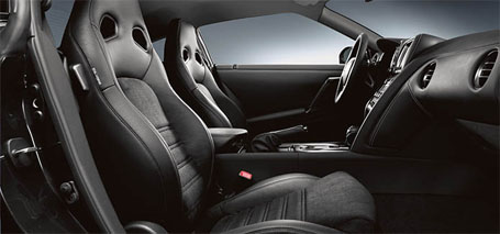Leather-Appointed Front Seats With Synthetic Suede Inserts