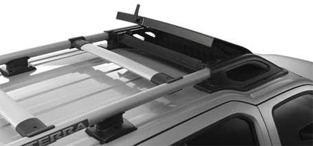 Tubular roof rack with air dam