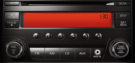 AM/FM/CD Audio System With MP3/WMA CD Playback Capability