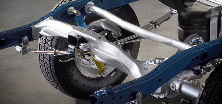 Overslung Multi-Leaf Rear Suspension With Solid Axle
