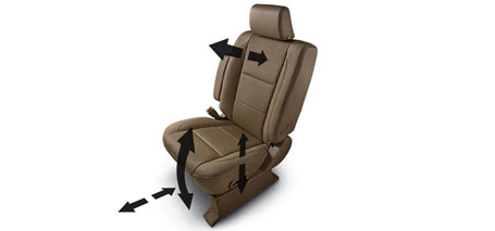 8-Way Power Driver's Seat With Power Lumbar Support