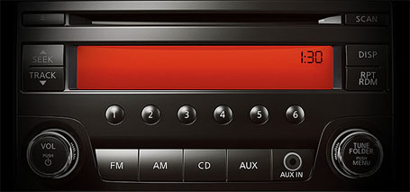 AM/FM/CD Audio System With Auxiliary Audio Input and Four Speakers