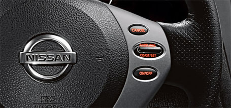 Cruise Control With Illuminated Steering-Wheel-Mounted Controls