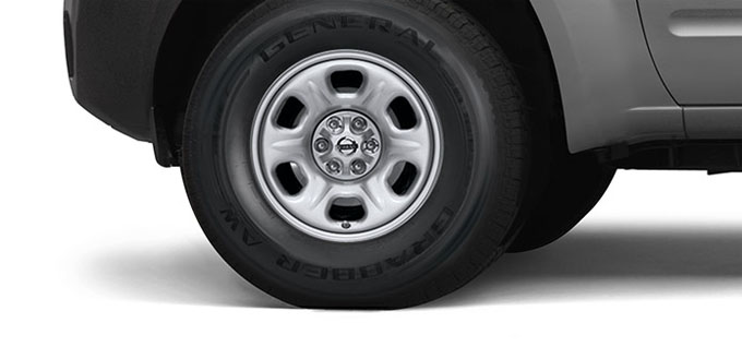 15 inch 6-spoke steel wheels