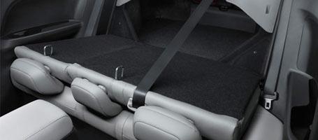 The 60/40 split rear seatback