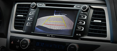 Standard backup camera with projected path