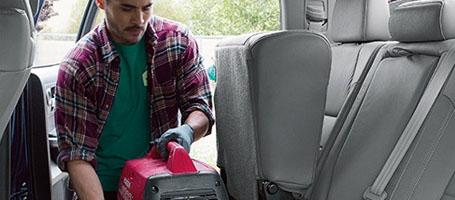 Fold-up rear seats