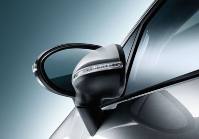 Available Power-Folding Outside Mirrors