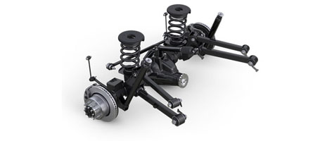 CLASS-EXCLUSIVE FIVE-LINK COIL REAR SUSPENSION