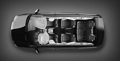 SEVEN STANDARD AIRBAGS