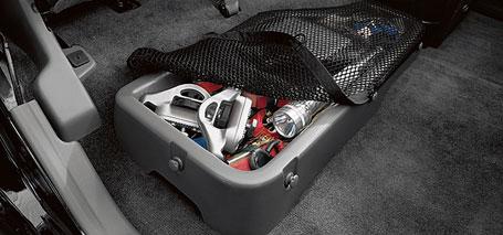 Rear Under-Seat Storage Bin