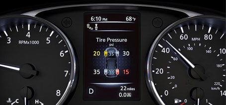 Tire Pressure Monitoring System with Easy-Fill Tire Alert