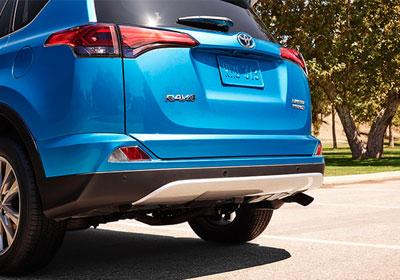 Stylish rear bumper