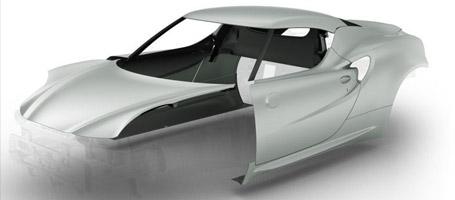 2016 Alfa Romeo 4C Coupe Innovative Materials