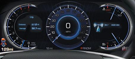 LCD gauge display