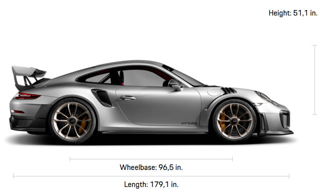 911 GT2 RS Specifications